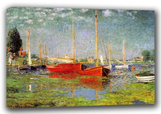 Monet, Claude: Argenteuil. Fine Art Landscape Canvas. Sizes: A3/A2/A1 (00748)